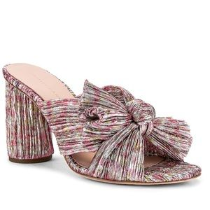 penny knot mule in pink multi floral